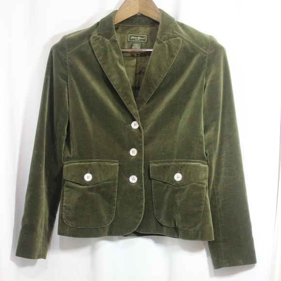 Eddie Bauer Jackets & Blazers - Eddie Bauer Velvet jacket size 4